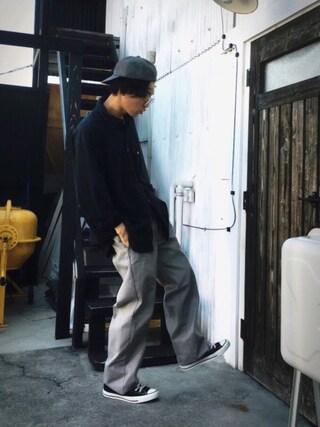 かずくんさんの「DOORS WASHED FLANNEL BB CAP(URBAN RESEARCH DOORS MENS|アーバンリサーチ ドアーズ メンズ)」を使ったコーディネート