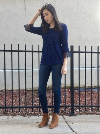 「Paige Denim 'Transcend - Verdugo' Ankle Ultra Skinny Jeans (Nottingham) (Petite)(Paige Denim)」 using this Audrey Altmann looks