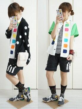 nao_mamekoさんの(Happy Socks|ハッピーソックス)を使ったコーディネート