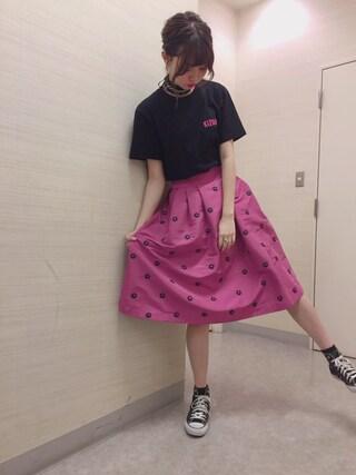 江野沢愛美 さんの「converse コンバース ALL STAR HI オールスター ハイ 3206 BLACK(US)(CONVERSE|コンバース)」を使ったコーディネート