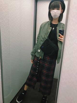 江野沢愛美 さんの「PUMA プーマ MADISON Classic S *01BLACK/WHITE(PUMA|プーマ)」を使ったコーディネート