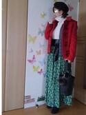 mintoさんの「エスパンディフルギャザースカーチョ(AZUL by moussy|アズールバイマウジー)」を使ったコーディネート
