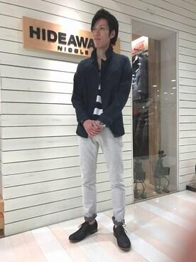 HIDEAWAYS g+天神コア店さんの(HIDEAWAYS NICOLE|ハイダウェイ ニコル)を使ったコーディネート