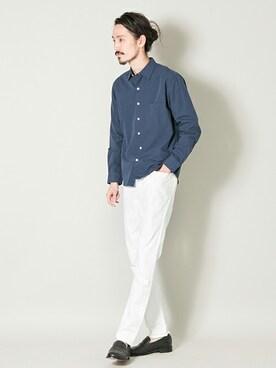 アーバンリサーチ 三宮店|otsukiさんのシャツ/ブラウス「UR コットングログランシャツ(URBAN RESEARCH|アーバンリサーチ)」を使ったコーディネート