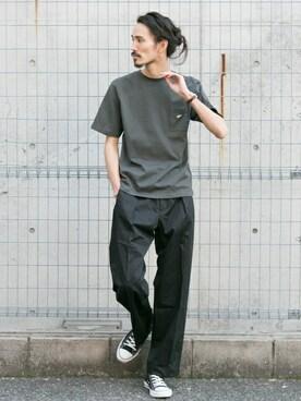 アーバンリサーチ KYOTO|otsukiさんのTシャツ/カットソー「UR ONE STAR T-SHIRTS(URBAN RESEARCH|アーバンリサーチ)」を使ったコーディネート