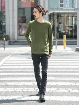 アーバンリサーチ 金沢百番街Rinto店|otsukiさんのTシャツ/カットソー「UR ワイドリブルーズL/S Tシャツ(URBAN RESEARCH|アーバンリサーチ)」を使ったコーディネート