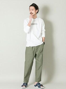 アーバンリサーチ 金沢百番街Rinto店|otsukiさんのTシャツ/カットソー「ST.MORITZ SUPERSOFT CLASSIC LONG SLEEVE TEE(URBAN RESEARCH|アーバンリサーチ)」を使ったコーディネート