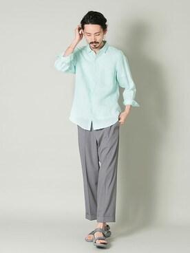 アーバンリサーチ 金沢百番街Rinto店|otsukiさんのシャツ/ブラウス「UR EUROPEAN LINEN SHIRT(URBAN RESEARCH|アーバンリサーチ)」を使ったコーディネート