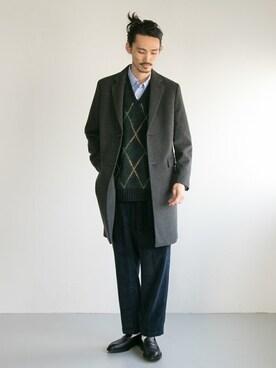 URBAN RESEARCH otsukiさんのチェスターコート「CHESTER FIELD COAT(URBAN RESEARCH アーバンリサーチ)」を使ったコーディネート