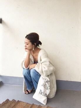 emiko☆さんの「ハンドニットカーディガン(TODAYFUL)」を使ったコーディネート