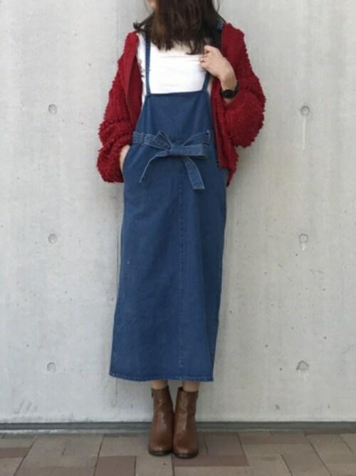 ジャンパースカートの差し色にぴったり♡