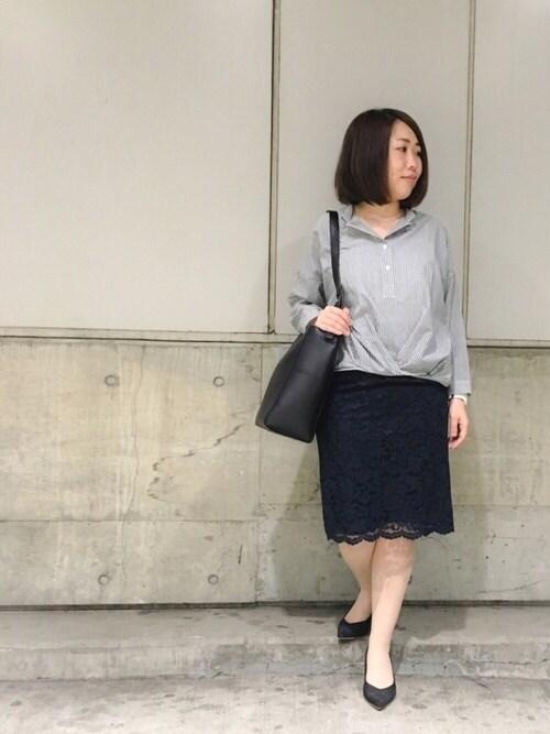 じゅんさんの「バックジップコンシャスタイトスカート(INTERPLANET)」を使ったコーディネート