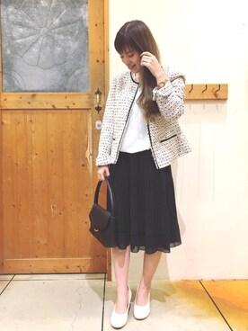 SHOO・LA・RUE|chihiroさんの「ネオリッチツイードジャケット(SHOO・LA・RUE)」を使ったコーディネート