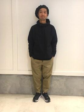 EN ROUTE GINZA|H.Arakawaさんのスニーカー「HOKA ONE ONE(ホカ オネオネ) CLIFTON3(EN ROUTE|アンルート)」を使ったコーディネート