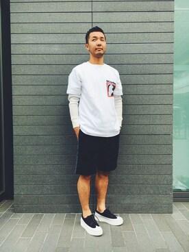 EN ROUTE GINZA|H.ArakawaさんのTシャツ/カットソー「RPLC(レプリカ) SCHONFLIES TEE(EN ROUTE|アンルート)」を使ったコーディネート