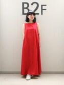 sayuri maedaさんの「ロングテントドレス(ADAM ET ROPE'|アダム エ ロペ)」を使ったコーディネート
