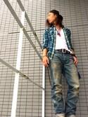 「RRL Oregon Jeans 28×30(RRL Ralph Lauren)」 using this 大誠 looks