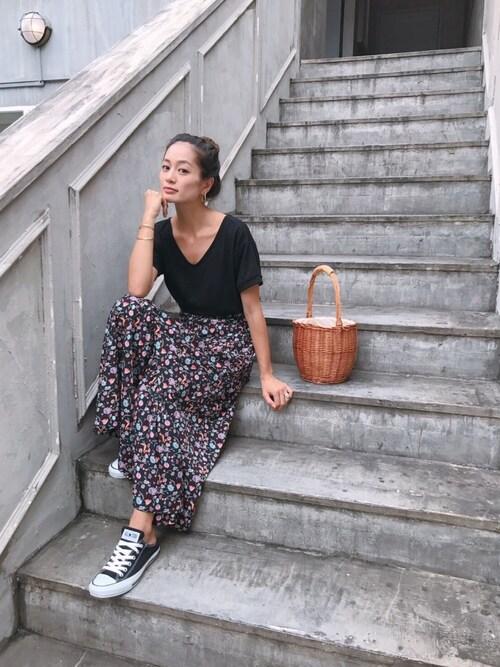 黒木 なつみさんの「【中村アンナコラボ】マーメイドマキシスカート(Vicente)」を使ったコーディネート