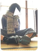△Risさんの「BEAMS BOY / 手編み ノルディック クルー 16AW(BEAMS BOY|ビームスボーイ)」を使ったコーディネート