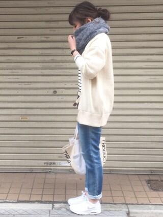 maiko さんの「UR バスクシャツ(URBAN RESEARCH|アーバンリサーチ)」を使ったコーディネート