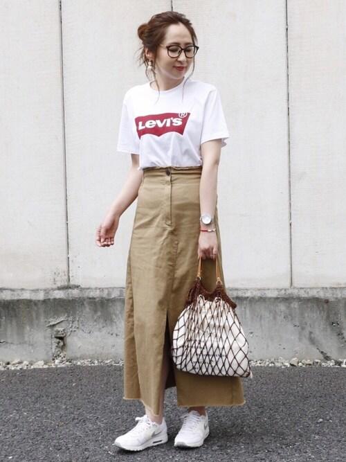 maiko さんの「<LEVI'S>ロゴTシャツ(BEAUTY&YOUTH UNITED ARROWS)」を使ったコーディネート