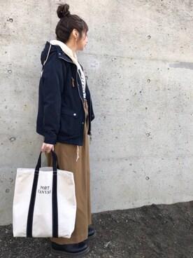 maiko さんの「ロングスリーブ ボアマウンテンパーカー(FREAK'S STORE|フリークスストア)」を使ったコーディネート