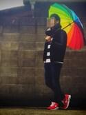 Booちゃんさんの「Raibow Umbrella/レインボーアンブレラ(OLD BETTY'S オールドベティーズ)」を使ったコーディネート