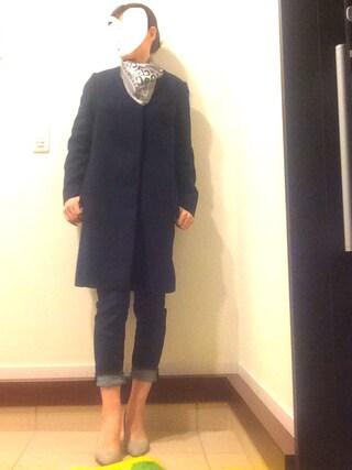リツさんの「【BAILA 10月号掲載】 Couture-line(クチュールライン) Vネックニットプルオーバー/ ウォッシャブルウール(nano・universe|ナノユニバース)」を使ったコーディネート