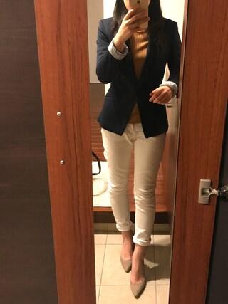 リツさんの「【SELECTED FOR PLAIN CLOTHING】スエードポインテッドトゥヒールパンプス(PLAIN CLOTHING|プレーンクロージング)」を使ったコーディネート