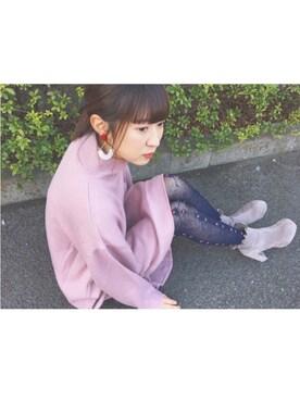 nanaさんの「フリルショートブーツ(merry jenny|メリージェニー)」を使ったコーディネート