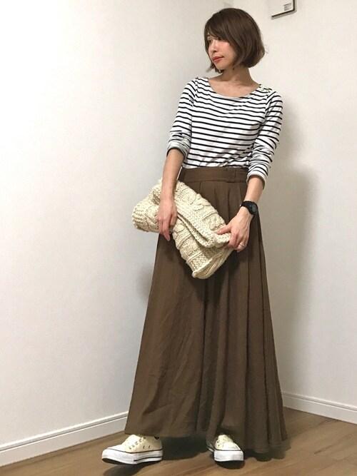 ai♡さんの「リネンレーヨンボリュームスカート(FREAK'S STORE)」を使ったコーディネート