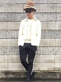Motokiさんの「ワークカバーオールDYE#(JOURNAL STANDARD relume|ジャーナルスタンダード レリューム)」を使ったコーディネート