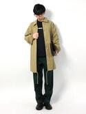 hiroさんの「リボーン加工ワイド2タックスラックス(UNITED TOKYO|トミーヒルフィガー)」を使ったコーディネート