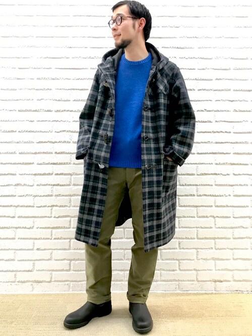 Bshop ららぽーとEXPOCITY店hayashiさんのダッフルコート「【ORCIVAL】ロングダッフルコート NGL MEN(ORCIVAL|オーシバル)」を使ったコーディネート