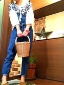 ayuMi◡̈さんの「オリジナルバケツ型バスケット【niko and ...】(niko and...|ニコアンド)」を使ったコーディネート