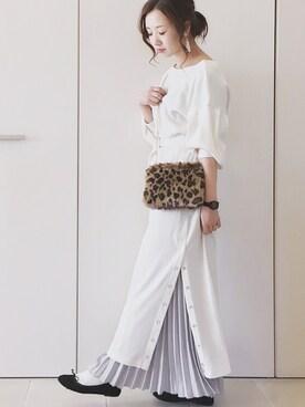 陽さんのワンピース「スナップボタン付ワッフルワンピース(natural couture ナチュラルクチュール)」を使ったコーディネート