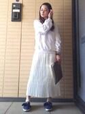 DAJURIさんの「プリーツロングスカート(merry jenny メリージェニー)」を使ったコーディネート