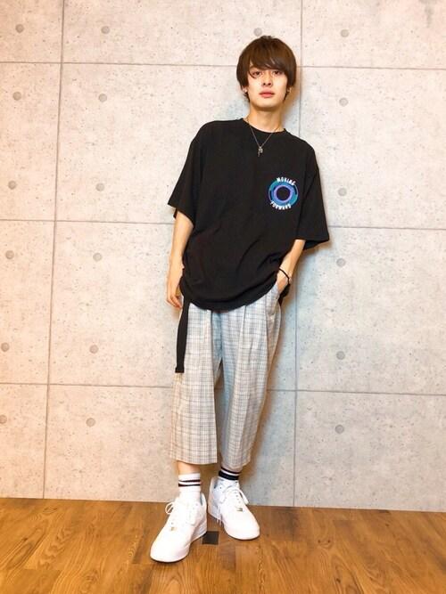 kutirkutir_menさんのTシャツ/カットソー「CIRCLE LOGO EX BIG TEE/ サークルロゴスーパービッグTシャツ(kutir|クティール)」を使ったコーディネート