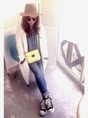 「FOREVER 21 Pebbled Faux Leather Crossbody(Forever 21)」 using this tomo    ☻ looks