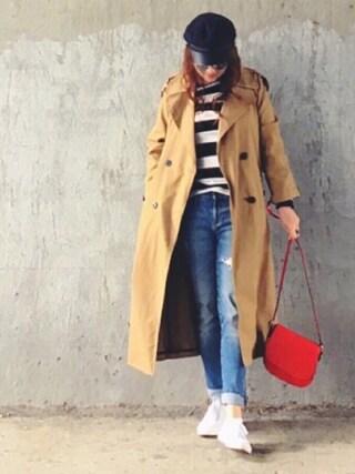 tomo    ☻さんの「【PLAIN CLOTHING】ラウンドショルダーバッグ(PLAIN CLOTHING|プレーンクロージング)」を使ったコーディネート