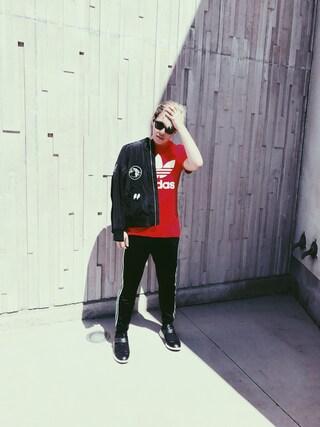 「adidas Originals Trefoil T-Shirt(adidas)」 using this Emanuel  looks