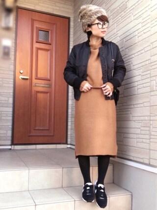 aaachan♡*さんの「【Marie Hill】スウェードお花ピアス(Marie Hill|マリーヒル)」を使ったコーディネート