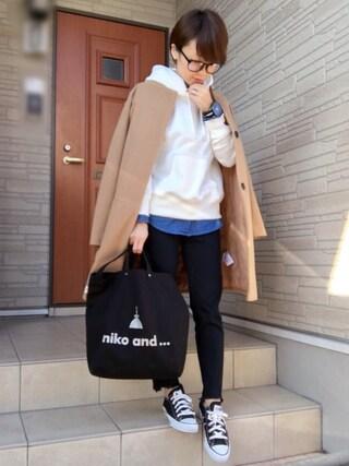 aaachan♡*さんの「(GU)スウェットプルパーカ(長袖)A(GU|ジーユー)」を使ったコーディネート