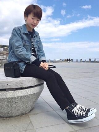 aaachan♡*さんの「12Gミラノリブ 切替プルオーバー(SEVENDAYS=SUNDAY セブンデイズサンデイ)」を使ったコーディネート