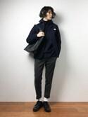 Yudai Ishiiさんの「【FINEBOYS掲載】DANTON 丸エリモッサー ジャケット(Danton|ダントン)」を使ったコーディネート