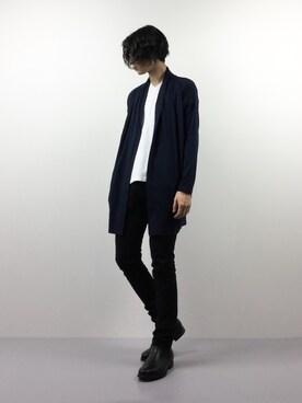 ZOZOTOWN|Yudai Ishiiさんの「[VICCI/ビッチ]ロング丈カットカーディガン(Vicci)」を使ったコーディネート