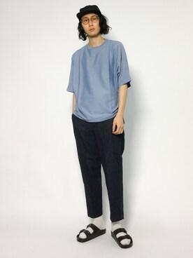 ZOZOTOWN|Yudai Ishiiさんの「UR スーピマドルマンルーズTシャツ(URBAN RESEARCH)」を使ったコーディネート