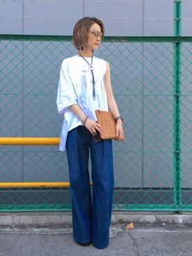 LHP 大阪店|hanae maruiさんの(MSGM|エムエスジーエム)を使ったコーディネート