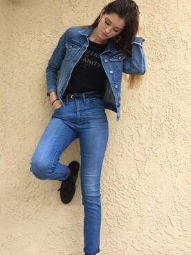 「Madewell High Rise Skinny Jeans (Polly)(madewell)」 using this Alex Rossman looks