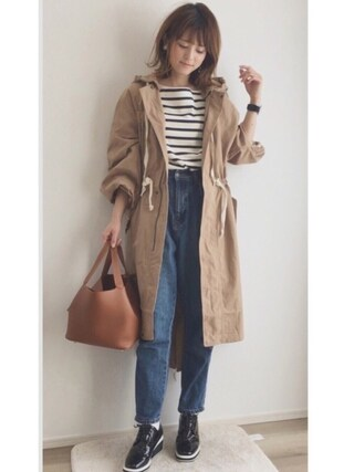 「HOODIE LONG MILITARY(SLY)」 using this yun looks